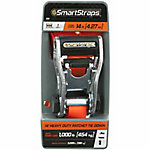 SmartStraps® 14 ft. L Orange Premium Ratchet X Tie Down, 1,000 lb. Safe Work Load