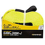 SmartStraps® 2 in. W x 30 ft. L Yellow Recovery Strap with Loop End, 5,000 lb. Safe Work Load