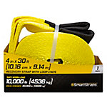 SmartStraps® 4 in. W x 30 ft. L Yellow Recovery Strap with Loop End, 10,000 lb. Safe Work Load
