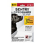 Sentry Fiproguard® for Dogs Flea & Tick Squeeze-On, 45 to 88 lb., Pack of 6