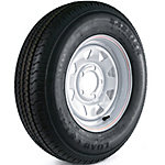 Kenda Loadstar Karrier Radial Trailer Tire and 5-Hole Custom Spoke Wheel (5 x 4.5), 175/80R-13 Load Range C