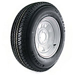 Kenda Loadstar Karrier Radial Trailer Tire and 5-Hole Custom Spoke Wheel (5 x 4-1/2 in.), 205/75R-14 Load Range C