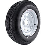 Kenda Loadstar Karrier Radial Trailer Tire and 5-Hole Custom Spoke Wheel (5 x 4-1/2 in.), 205/75R-15 Load Range C