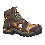 Carhartt Men's 6 in. Brown/Camo Work Flex Boot with Safety Toe