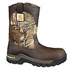 Carhartt Men's 10 in. Brown/Camo Work Flex Wellington with Safety Toe