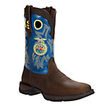 Durango Lady Rebel 10 in. FFA Boot, Brown/Blue