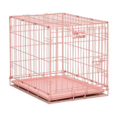 Single door dog crate small breed pink 39 99 pet crate amp 124
