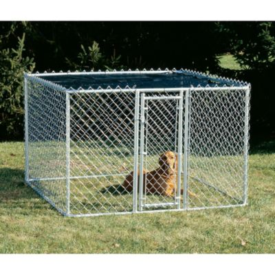 Dog Training & Behavior Galvanized steel tubing & chain link fabric are used. Set up only 15 minutes for a 4 panel unit & requires only one 1/2
