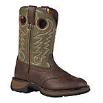 Lil Durango 8 in. Pull-On Boy's Boot, Dark Brown/Forest Green