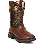 Lil Durango 8 in. Pull-On Boy's Boot, Chestnut/Black
