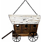 Red Shed Covered Wagon Birdhouse