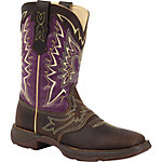 Durango Lady Rebel 10 in. Pull-On Let Love Fly Boot, Dark Brown/Plum