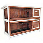 Advantek™ The Duplex Rabbit Hutch, Auburn