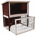 Advantek™ Sun Room Rabbit Hutch, Auburn