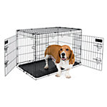 Petmate 2-Door Training Retreat Wire Kennel, 30 in., For Dogs 30 to 50 lb.
