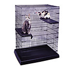 Kennel-Aire® Small Animal Pen with Plastic Tray and Perch