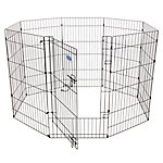Petmate Exercise Pen with Door, 42 in. x 24 in., 8 Panels