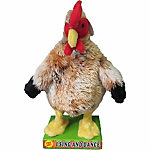 Red Shed™ Plush Rooster with Sound