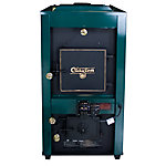 United States Stove Clayton Wood/Coal Stove with Draft Kit, Twin 800 CFM Blowers