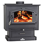 United States Stove Medium EPA Certified Wood Stove with Nickel Door