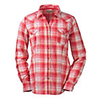 Bit & Bridle™ Ladies' Long Sleeve Dobby Pattern Western Shirt, Red