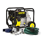 Champion Power Equipment™ 66520 2-in-1 Semi Trash Pump with Hose Kit, CARB Compliant