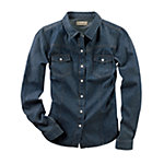 Bit & Bridle™ Ladies' Western Long Sleeved Denim Shirt, Medium Blue