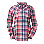 Bit & Bridle™ Ladies' Long Sleeve Western Plaid Shirt, Red