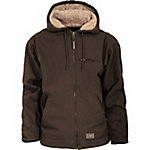 C.E. Schmidt Men's Sherpa-Lined Hooded Jacket, Washed Duck
