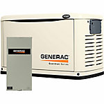 Generac® 11 kW (LP) / 10 kW (NG) Air-Cooled Standby Generator with 200A Transfer Switch