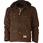 C.E. Schmidt® Men's Sanded/Washed Duck Fleece-Lined Hooded Contractor Coat