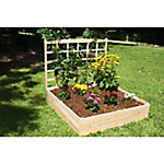 Riverstone Eden Raised Garden Bed with Trellis, 4 ft. x 4 ft. x 11 in. with 44 in. Trellis
