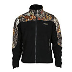 Rocky® Men's Fleece Zip Jacket with Camo Accents, Mossy Oak Break-Up