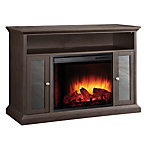 Pleasant Hearth 47 in. Media Espresso Electric Fireplace with Remote