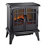 Pleasant Hearth Matte Black Electric Stove, 20 in. L