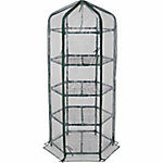 GroundWork® Hexagon Greenhouse, 24-2/9 in. W x 27-3/4 in. L x 63 in. H