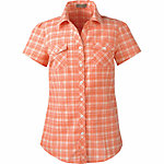 Bit & Bridle™ Ladies' Short-Sleeved printed Cotton Cinched Back Shirt, Coral