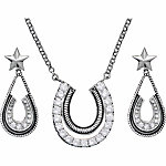 Montana Silversmiths Horseshoe Jewelry Set