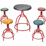 Red Shed™ 5-Piece Bottle Cap Table and Stool Set