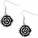 Montana Silversmiths Sculpted Rose Drop Earring