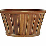Flat Bottom Bushel Planter, 12 in. dia., Warm Brown