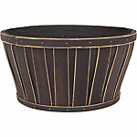 Flat Bottom Bushel Planter, 12 in. dia., Saddle Brown