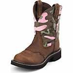 Justin Ladies' 8 in. Gypsy Boot, Pink Camo/Aged Bark Brown