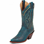 Justin Ladies' 11 in. Western Boot, Turquoise Blue