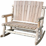 Leigh Country Double Rocker, Unfinished Natural
