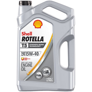 Shell rotella t5 synthetic blend 15w 40 motor oil 1 gal for Shell diesel motor oil