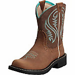 Ariat Ladies' Fatbaby Heritage Western 8 in. Performance Boot, Tan Rebel