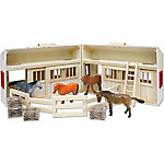 Real Wood Toys Wooden Folding Stable