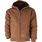 C.E. Schmidt Men's Endurance Duck Quilt-Lined Performance Hooded Jacket, Hickory
