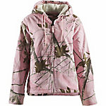 C.E. Schmidt Ladies' Sherpa-Lined Insulated Hooded Jacket, Pink Realtree Camouflage